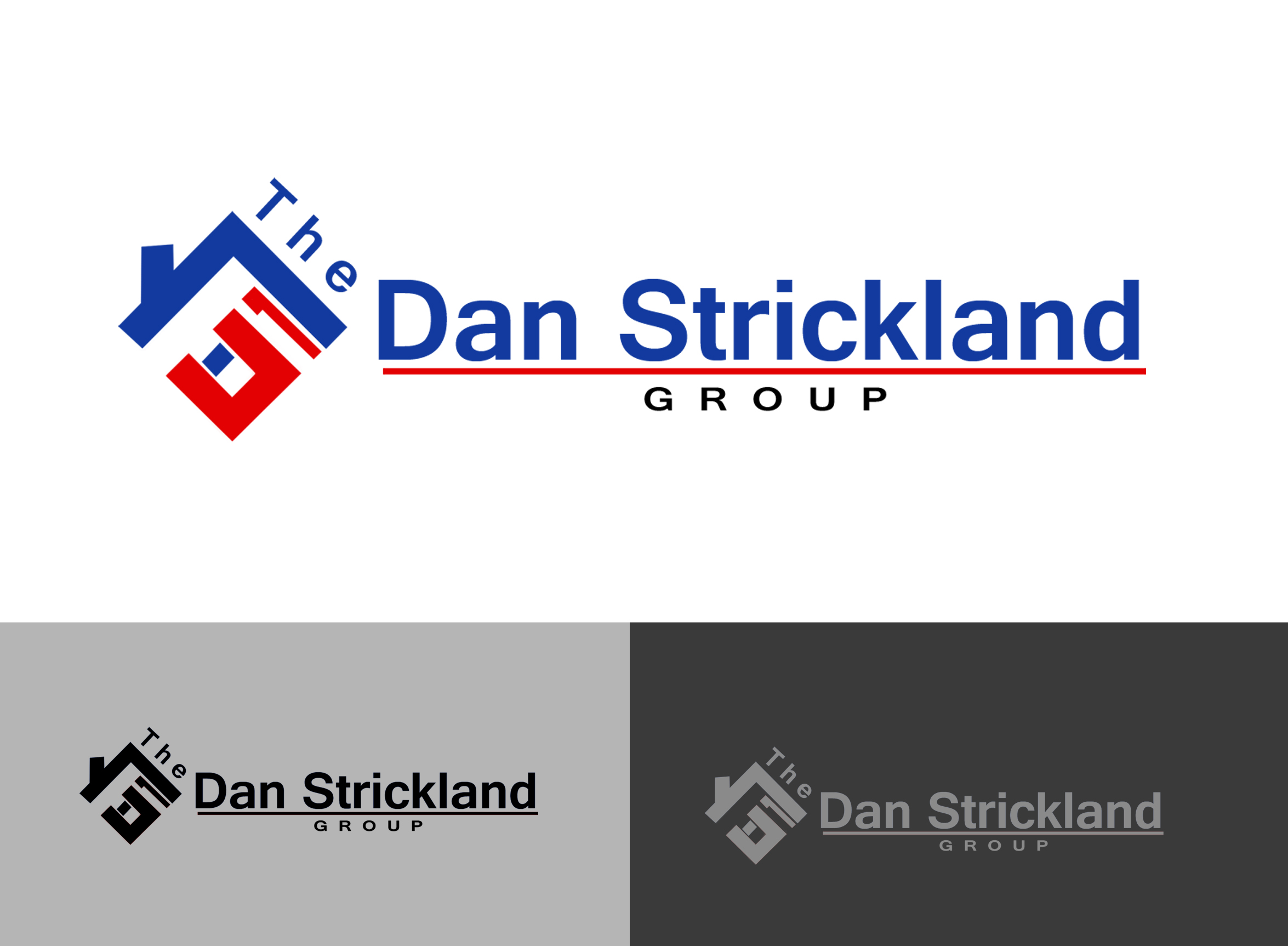 Logo Design by Jack Rajgor - Entry No. 234 in the Logo Design Contest Creative Logo Design for The Dan Strickland Group.