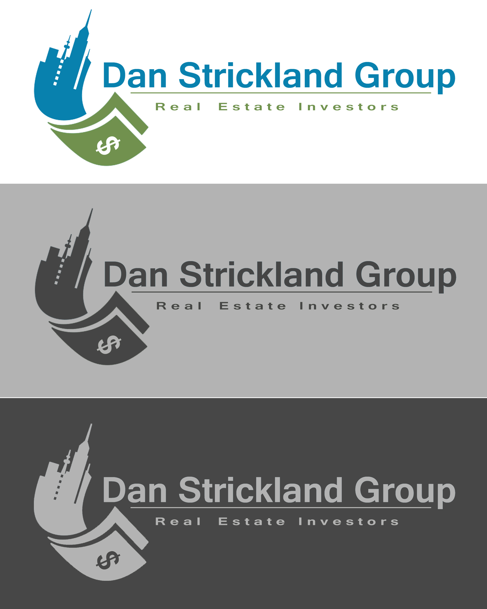 Logo Design by Jack Rajgor - Entry No. 239 in the Logo Design Contest Creative Logo Design for The Dan Strickland Group.