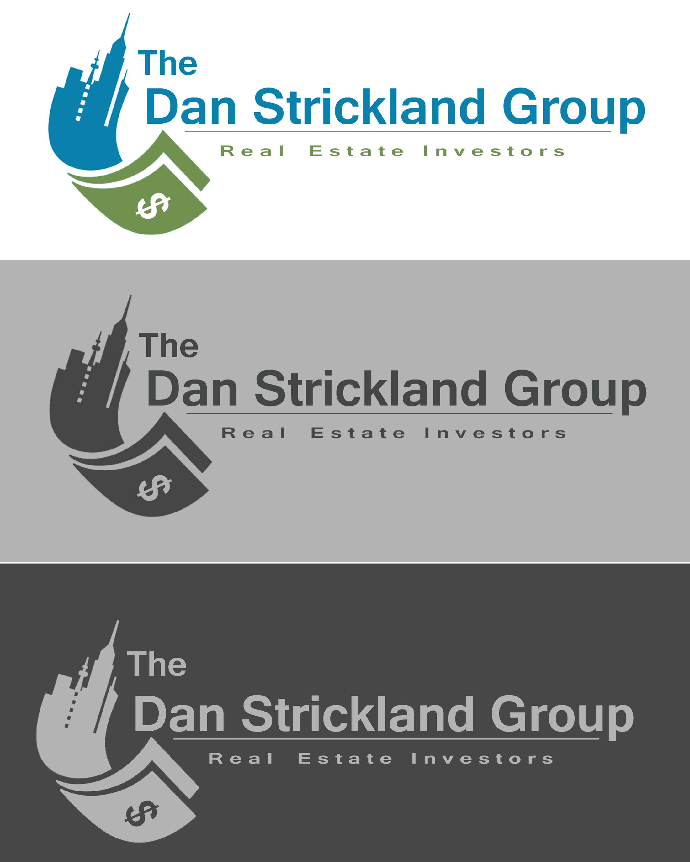 Logo Design by Jack Rajgor - Entry No. 241 in the Logo Design Contest Creative Logo Design for The Dan Strickland Group.