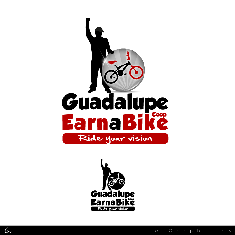 Logo Design by Les-Graphistes - Entry No. 35 in the Logo Design Contest Inspiring Logo Design for Guadalupe Earn a Bike Coop..