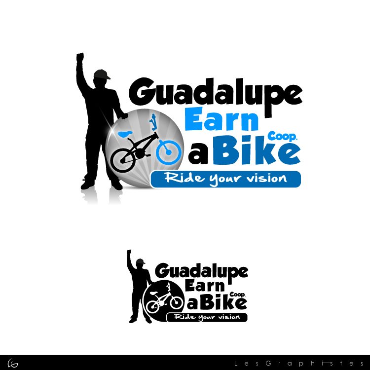 Logo Design by Les-Graphistes - Entry No. 37 in the Logo Design Contest Inspiring Logo Design for Guadalupe Earn a Bike Coop..