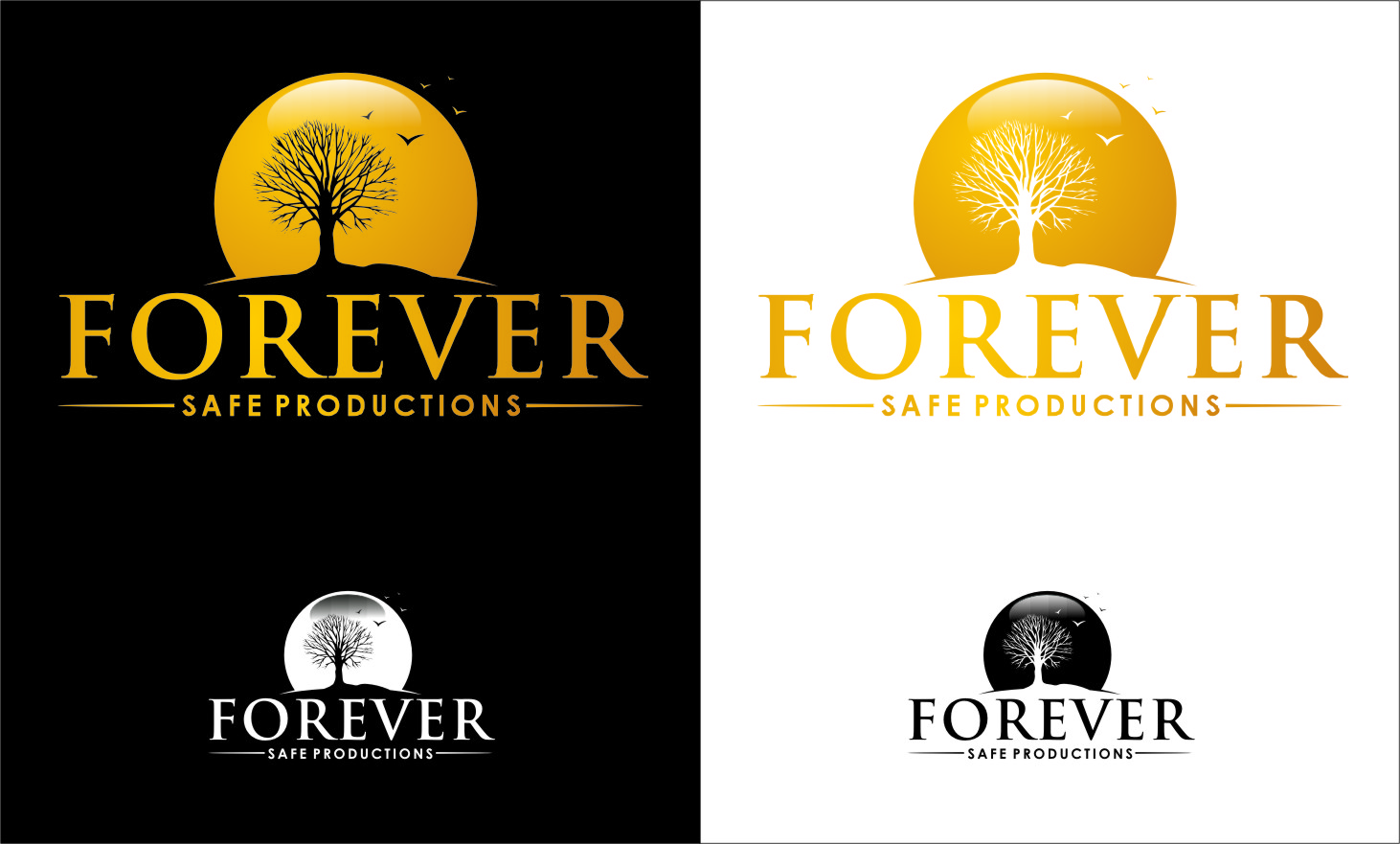 Logo Design by RoSyid Rono-Rene On Java - Entry No. 6 in the Logo Design Contest Inspiring Logo Design for Forever Safe Productions.