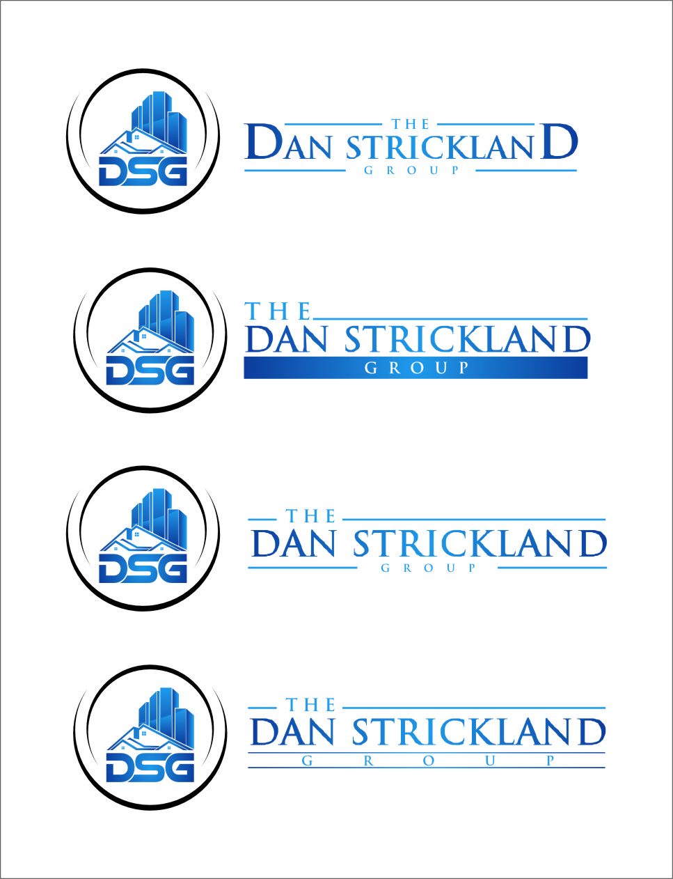 Logo Design by Ngepet_art - Entry No. 312 in the Logo Design Contest Creative Logo Design for The Dan Strickland Group.