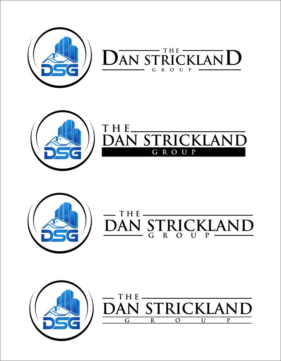 Logo Design by RasYa Muhammad Athaya - Entry No. 317 in the Logo Design Contest Creative Logo Design for The Dan Strickland Group.