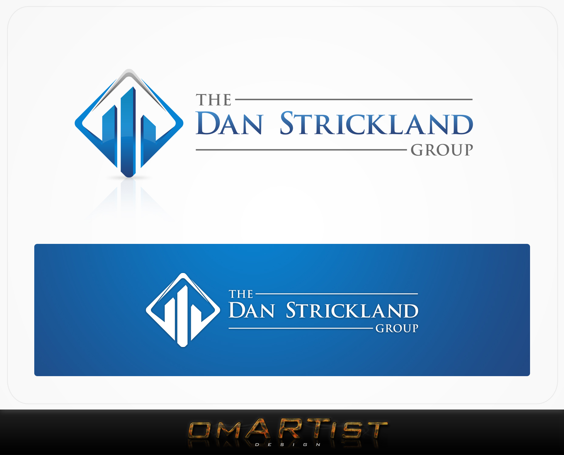 Logo Design by omARTist - Entry No. 331 in the Logo Design Contest Creative Logo Design for The Dan Strickland Group.