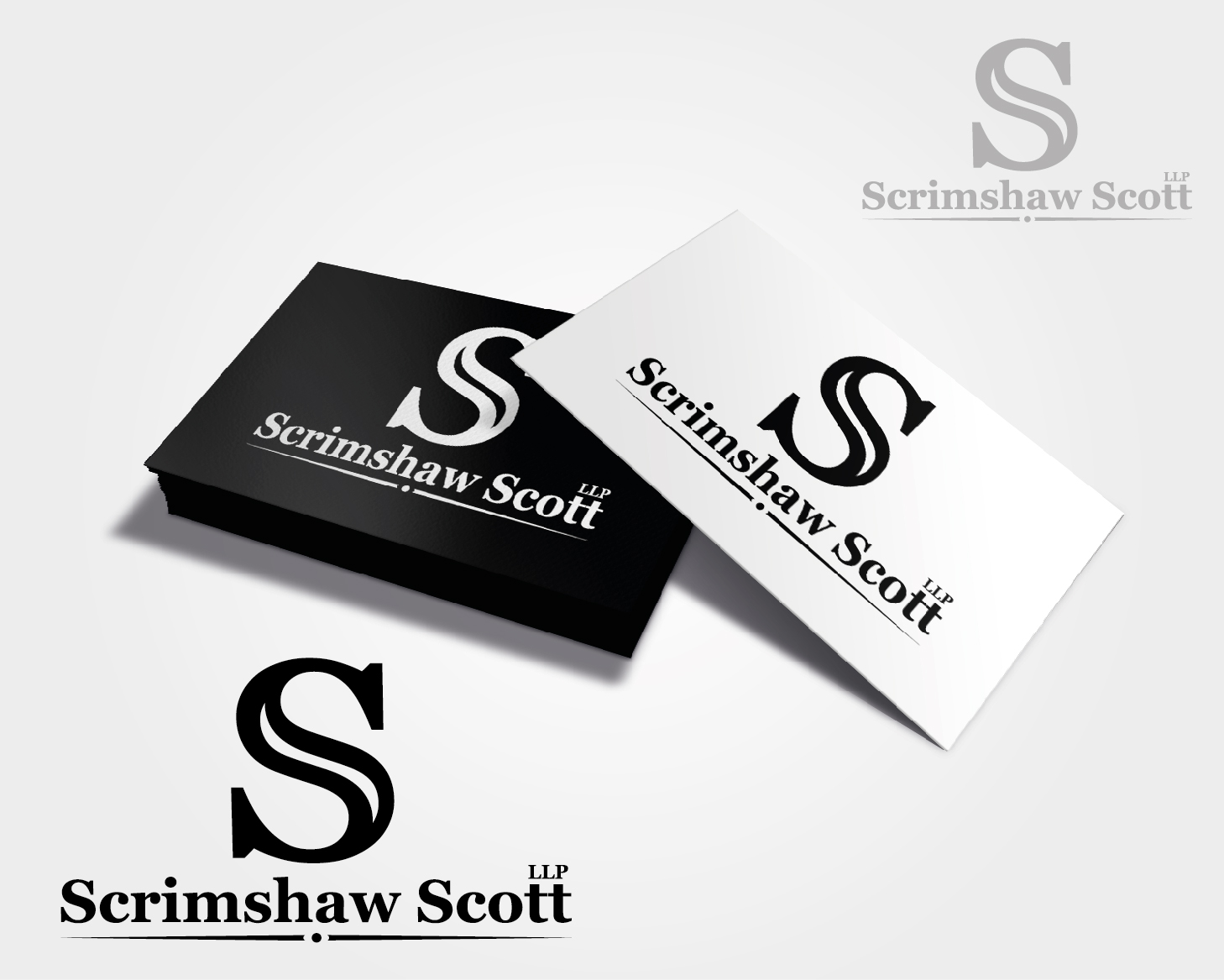 Logo Design by VENTSISLAV KOVACHEV - Entry No. 49 in the Logo Design Contest Creative Logo Design for Scrimshaw Scott LLP.