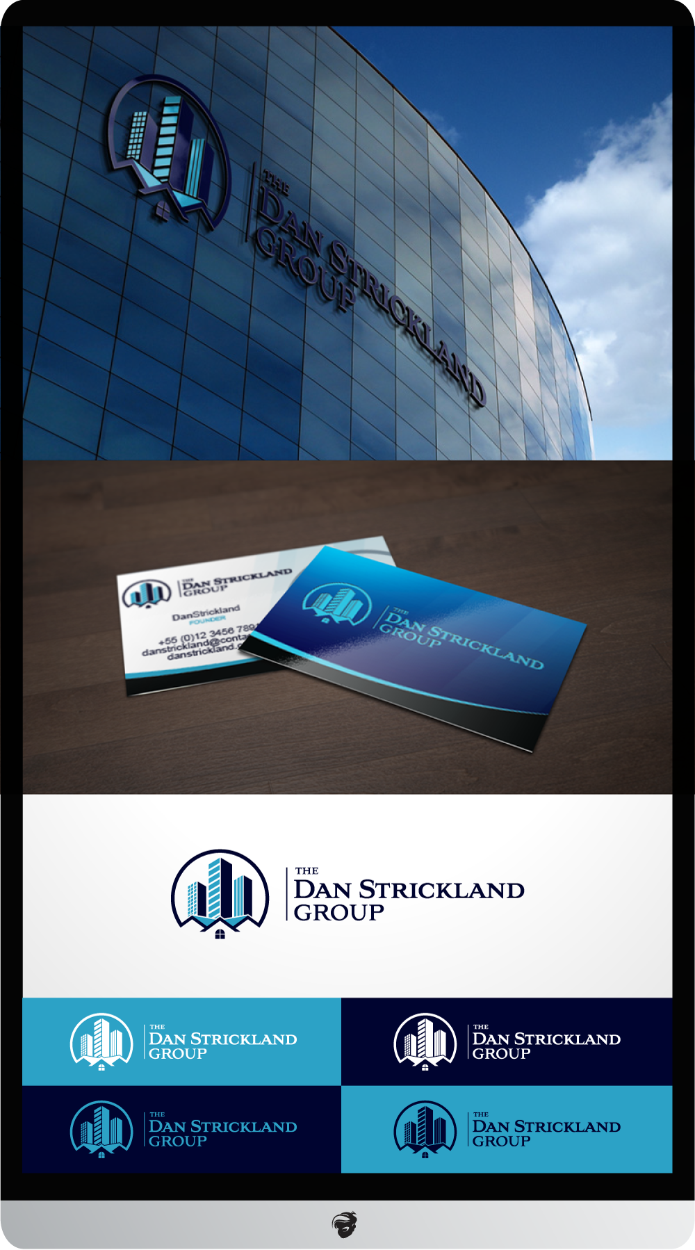 Logo Design by zesthar - Entry No. 370 in the Logo Design Contest Creative Logo Design for The Dan Strickland Group.