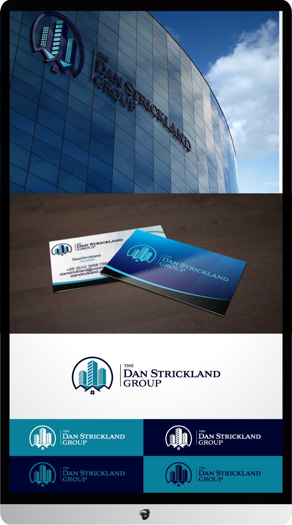 Logo Design by zesthar - Entry No. 377 in the Logo Design Contest Creative Logo Design for The Dan Strickland Group.