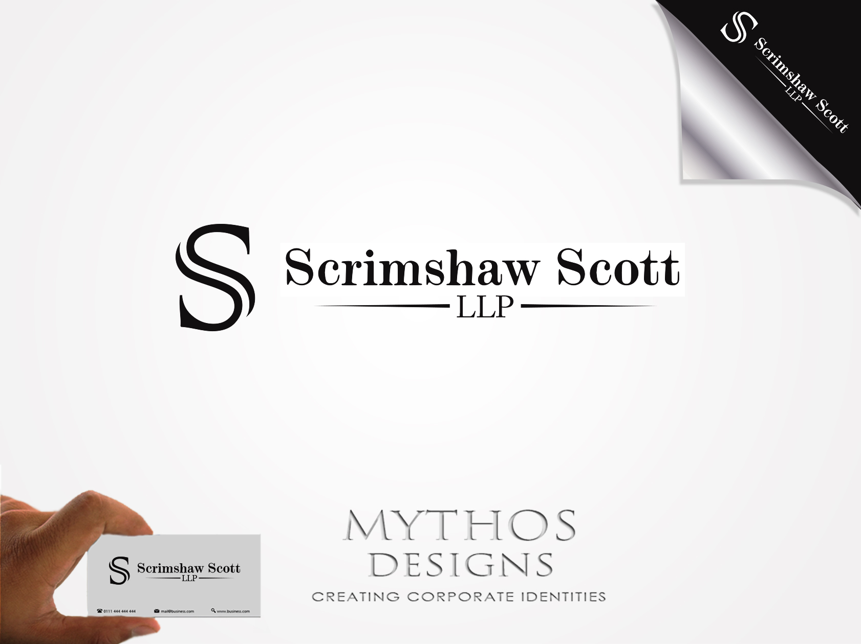 Logo Design by Mythos Designs - Entry No. 53 in the Logo Design Contest Creative Logo Design for Scrimshaw Scott LLP.