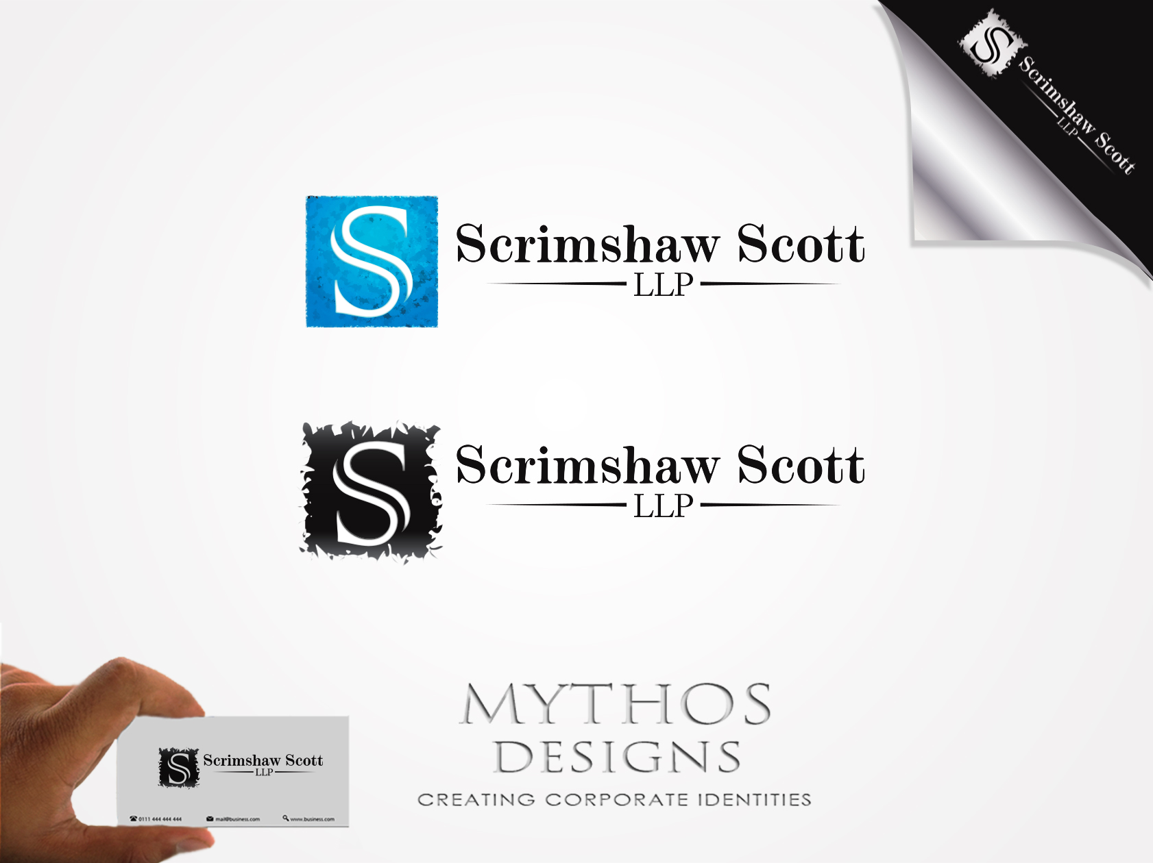 Logo Design by Mythos Designs - Entry No. 54 in the Logo Design Contest Creative Logo Design for Scrimshaw Scott LLP.