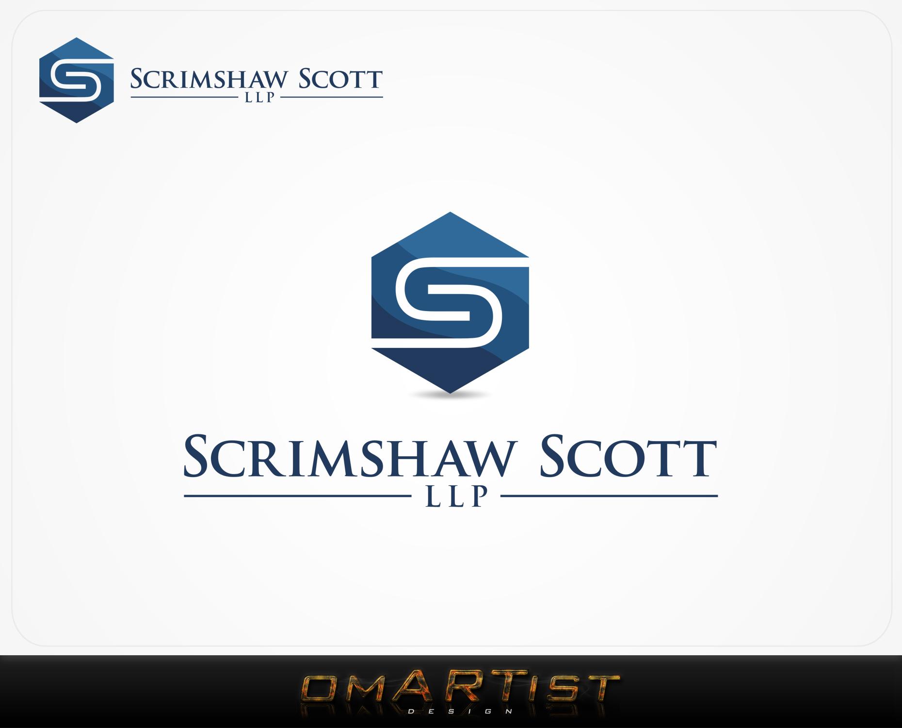Logo Design by omARTist - Entry No. 58 in the Logo Design Contest Creative Logo Design for Scrimshaw Scott LLP.