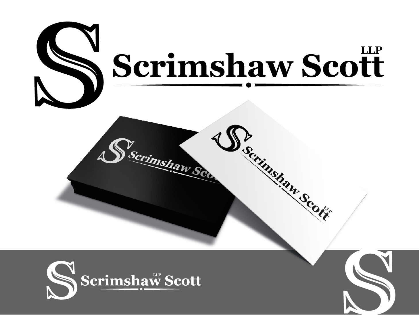 Logo Design by VENTSISLAV KOVACHEV - Entry No. 62 in the Logo Design Contest Creative Logo Design for Scrimshaw Scott LLP.