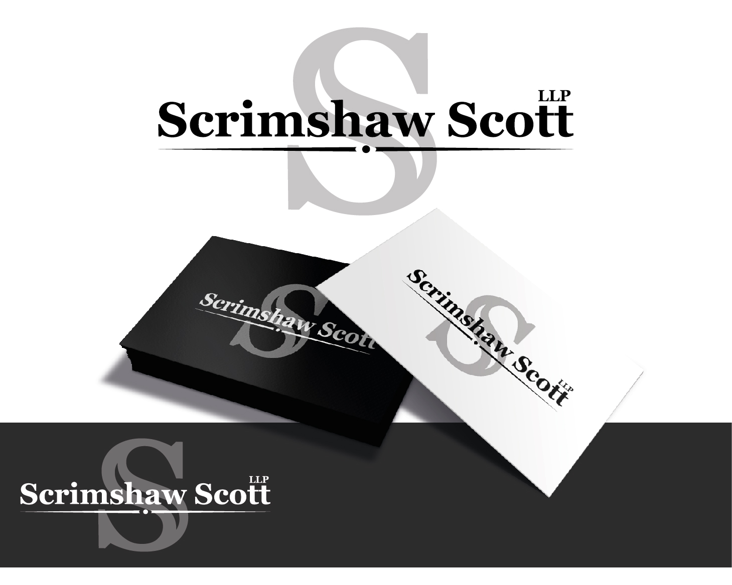 Logo Design by VENTSISLAV KOVACHEV - Entry No. 65 in the Logo Design Contest Creative Logo Design for Scrimshaw Scott LLP.