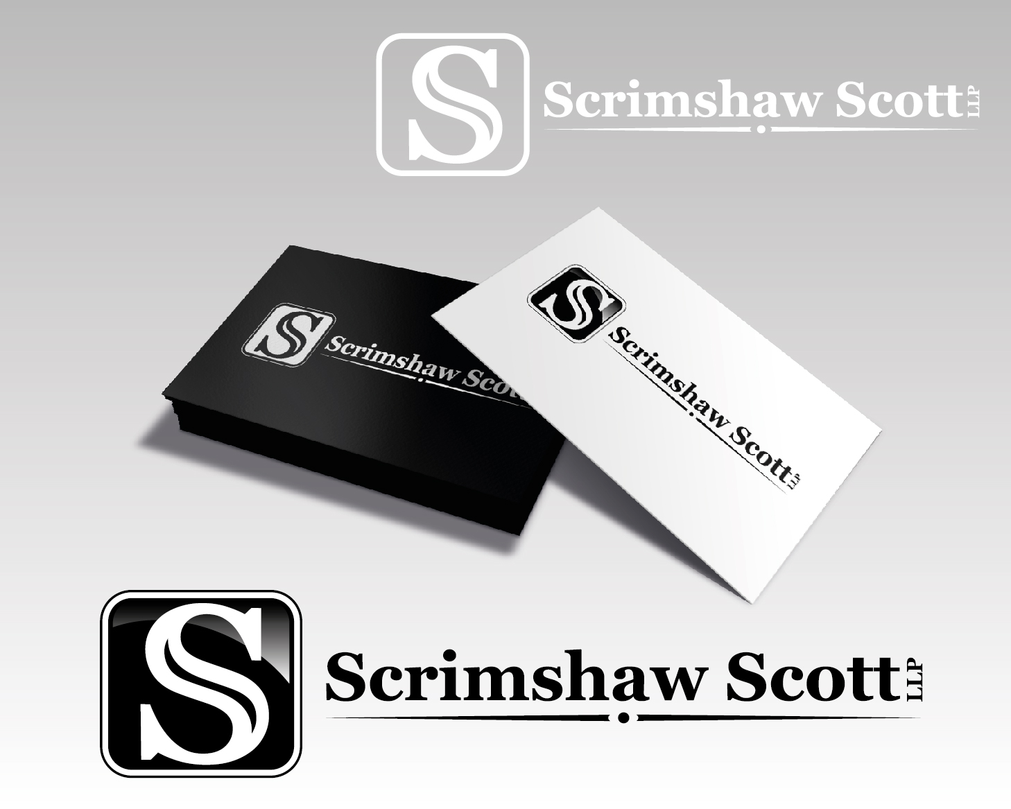 Logo Design by VENTSISLAV KOVACHEV - Entry No. 66 in the Logo Design Contest Creative Logo Design for Scrimshaw Scott LLP.