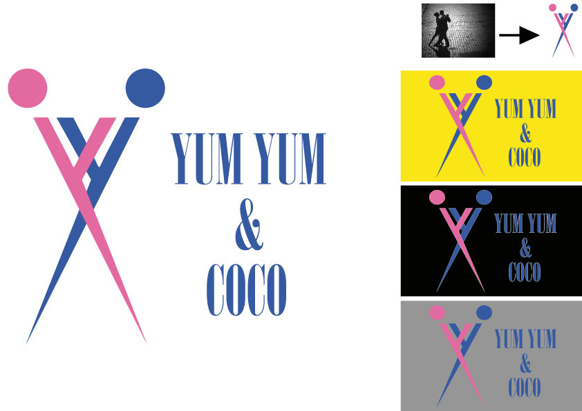 Logo Design by Kenan çete - Entry No. 18 in the Logo Design Contest Logo Design for YumYum & CoCo.