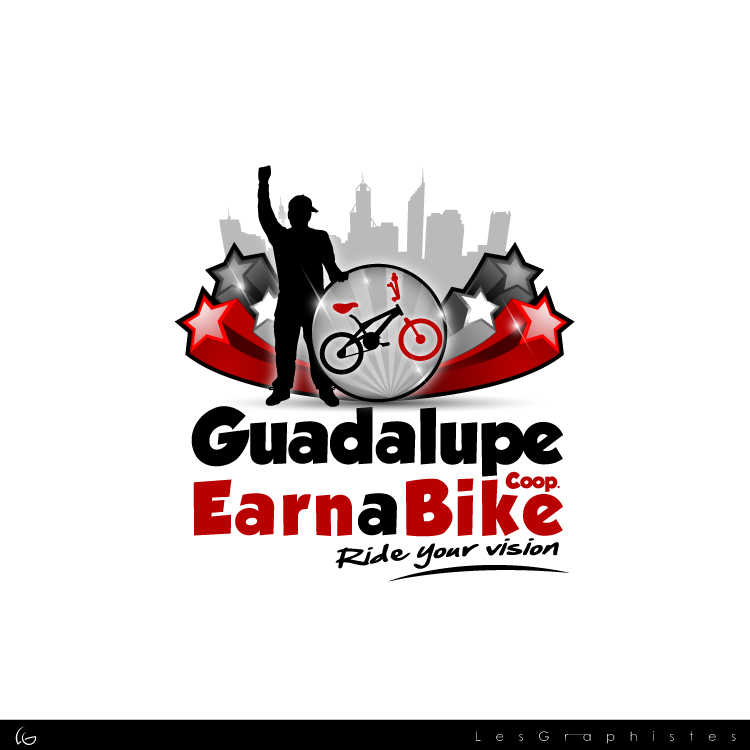 Logo Design by Les-Graphistes - Entry No. 55 in the Logo Design Contest Inspiring Logo Design for Guadalupe Earn a Bike Coop..