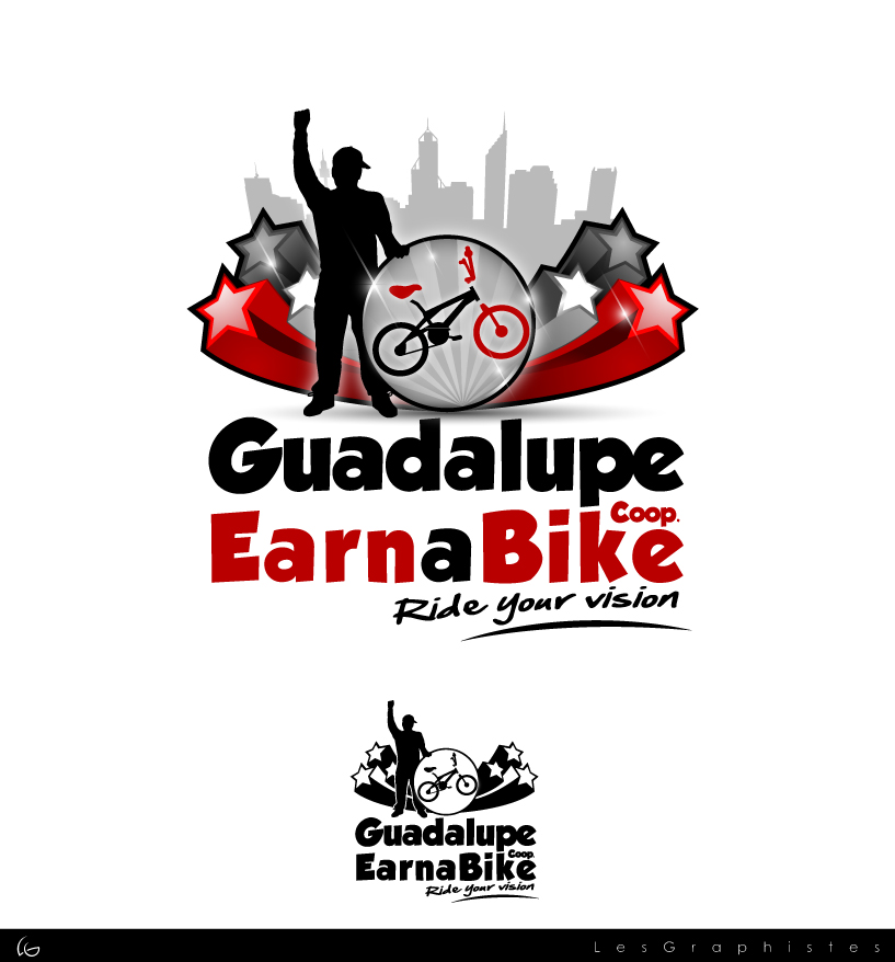 Logo Design by Les-Graphistes - Entry No. 56 in the Logo Design Contest Inspiring Logo Design for Guadalupe Earn a Bike Coop..