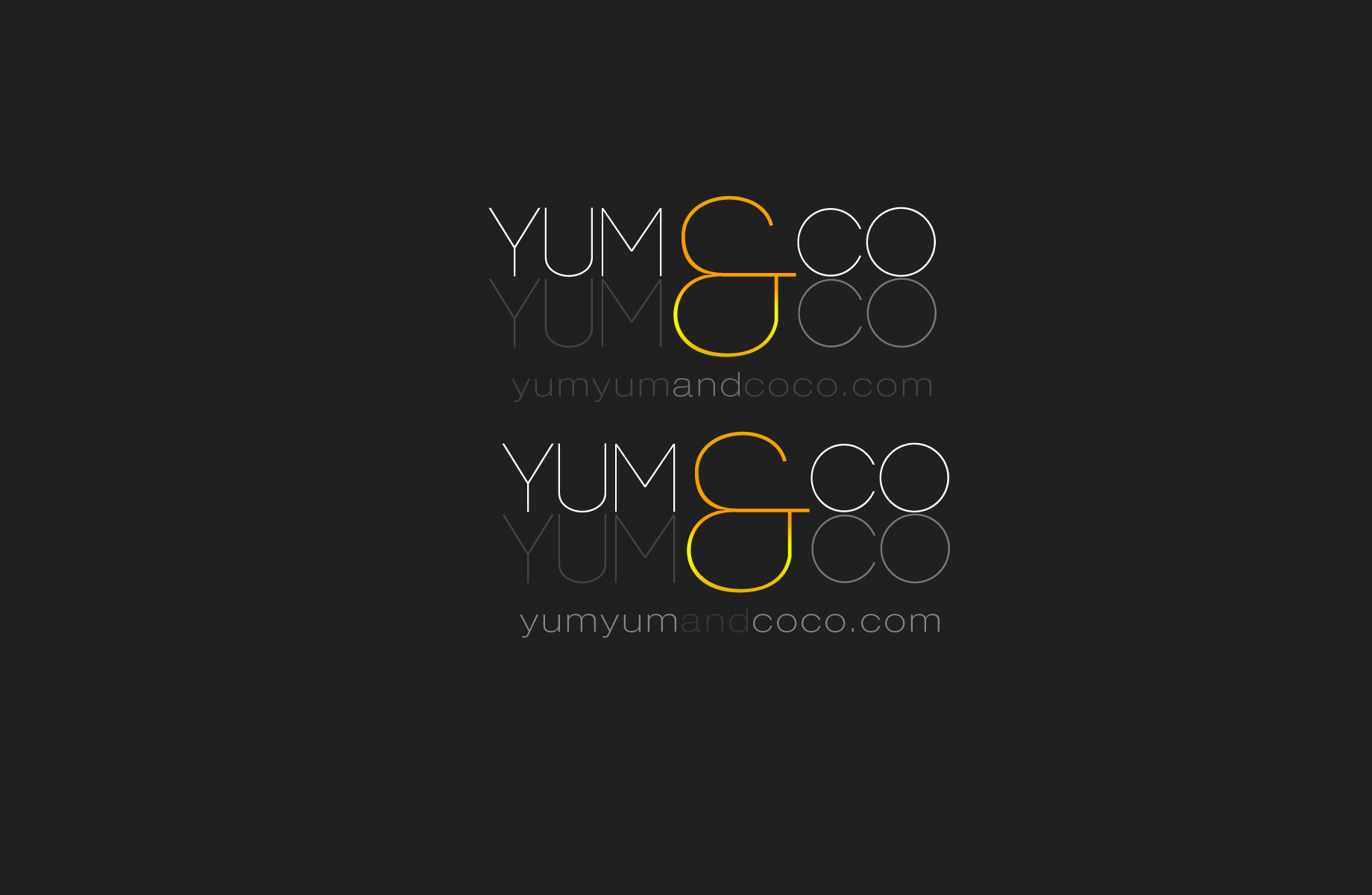 Logo Design by Jan Chua - Entry No. 54 in the Logo Design Contest Logo Design for YumYum & CoCo.