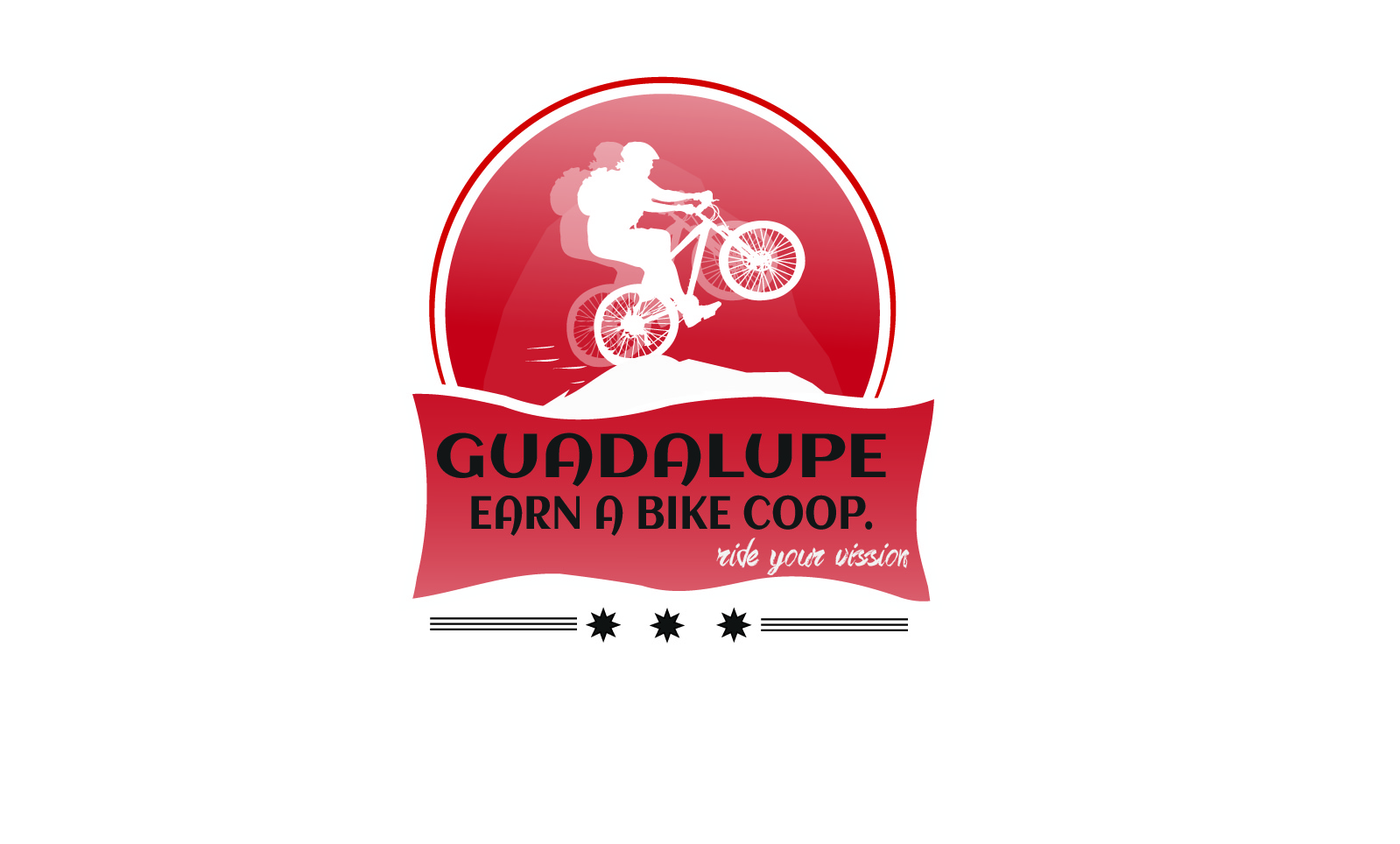 Logo Design by lde05 - Entry No. 63 in the Logo Design Contest Inspiring Logo Design for Guadalupe Earn a Bike Coop..