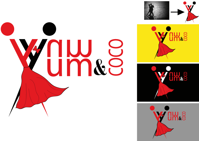 Logo Design by Kenan çete - Entry No. 64 in the Logo Design Contest Logo Design for YumYum & CoCo.