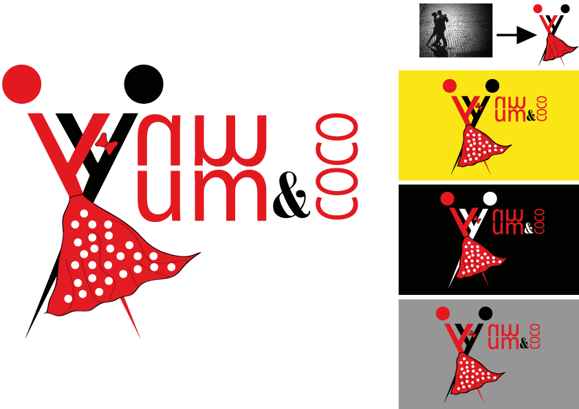 Logo Design by Kenan çete - Entry No. 66 in the Logo Design Contest Logo Design for YumYum & CoCo.