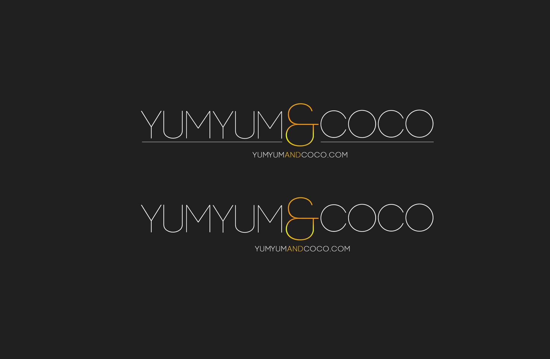 Logo Design by Jan Chua - Entry No. 76 in the Logo Design Contest Logo Design for YumYum & CoCo.