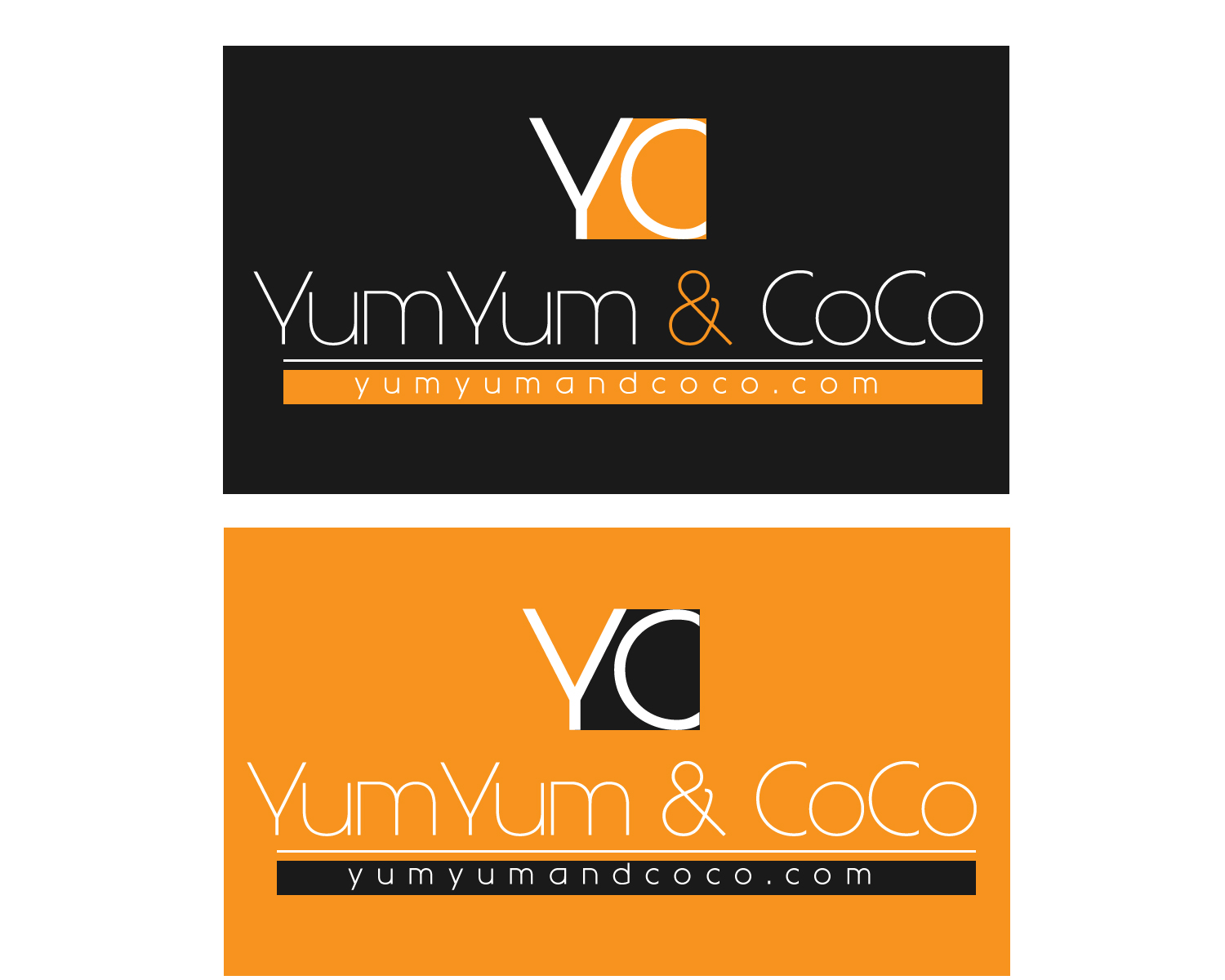 Logo Design by Jagdeep Singh - Entry No. 83 in the Logo Design Contest Logo Design for YumYum & CoCo.