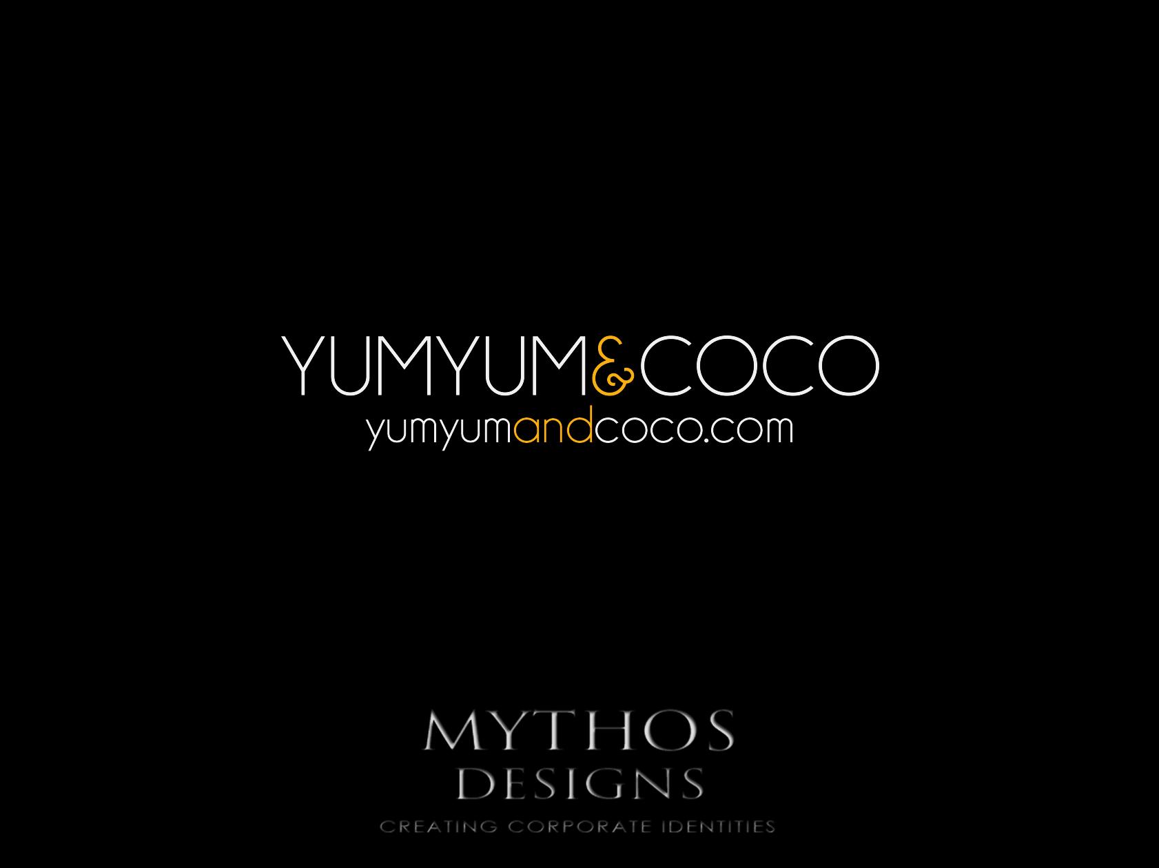 Logo Design by Mythos Designs - Entry No. 90 in the Logo Design Contest Logo Design for YumYum & CoCo.