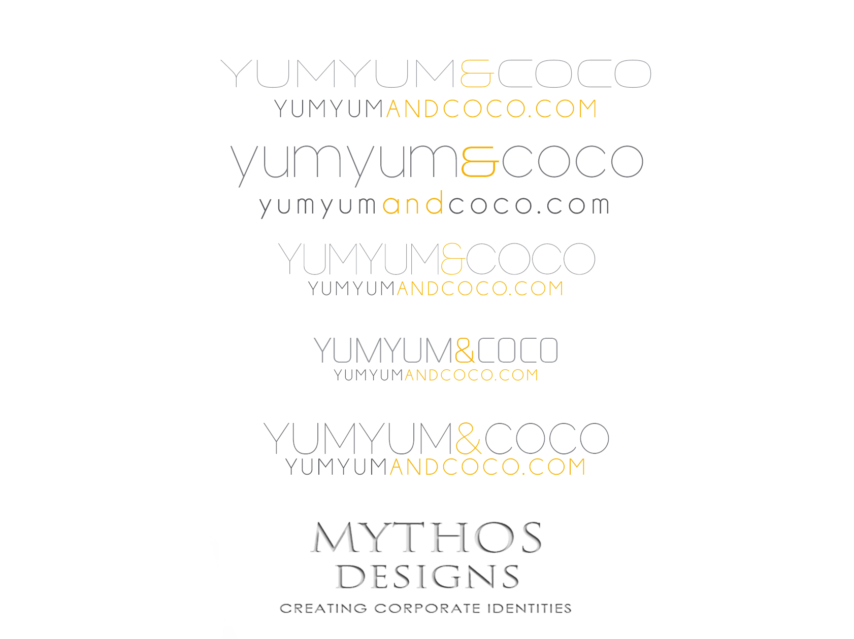 Logo Design by Mythos Designs - Entry No. 95 in the Logo Design Contest Logo Design for YumYum & CoCo.