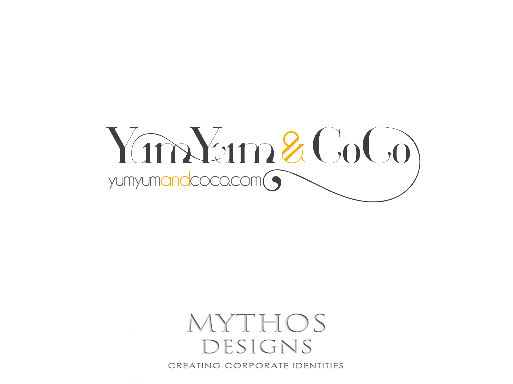 Logo Design by Mythos Designs - Entry No. 101 in the Logo Design Contest Logo Design for YumYum & CoCo.