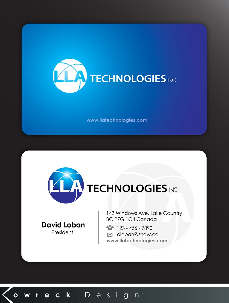 Logo Design by kowreck - Entry No. 9 in the Logo Design Contest Inspiring Logo Design for LLA Technologies Inc..