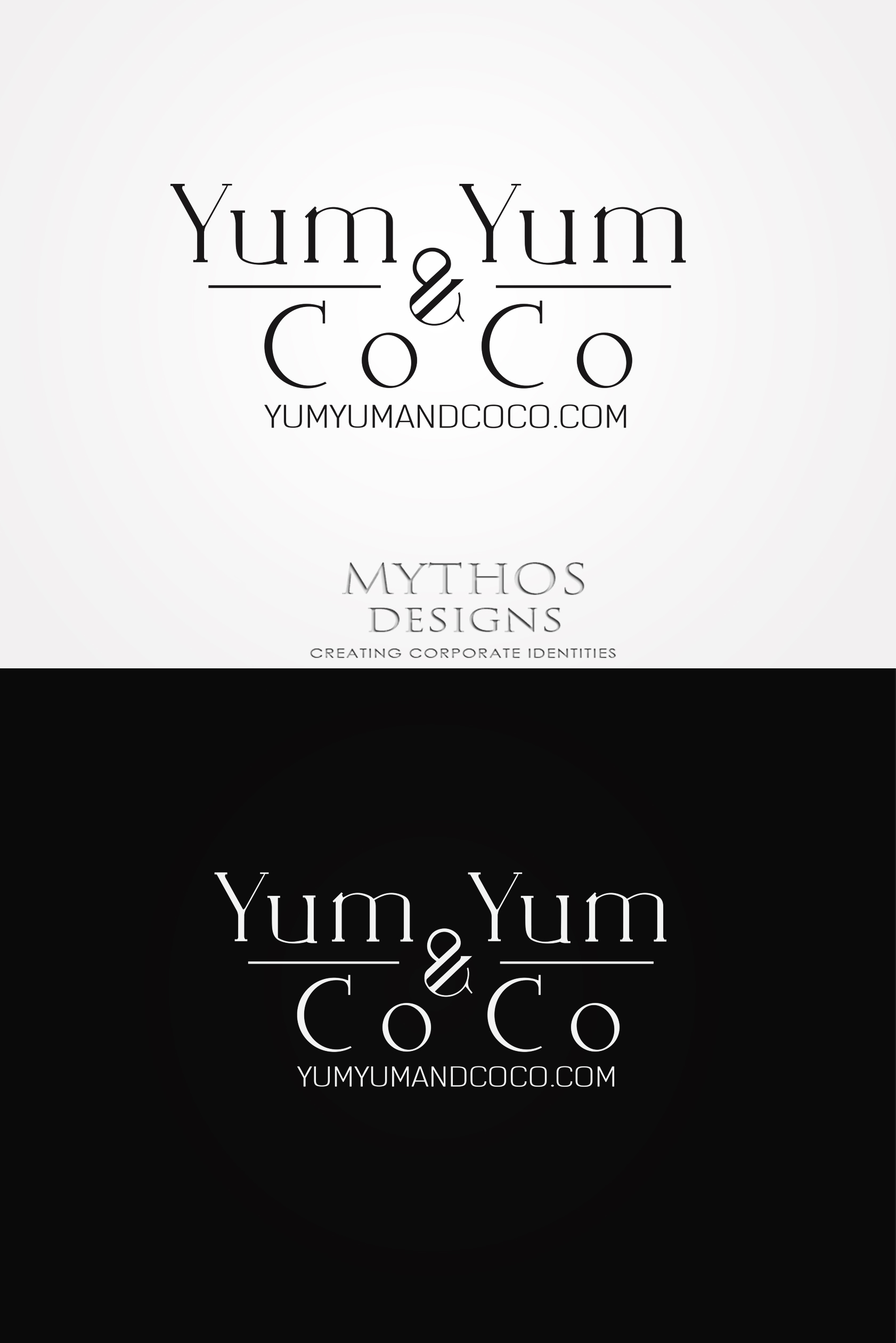 Logo Design by Mythos Designs - Entry No. 118 in the Logo Design Contest Logo Design for YumYum & CoCo.