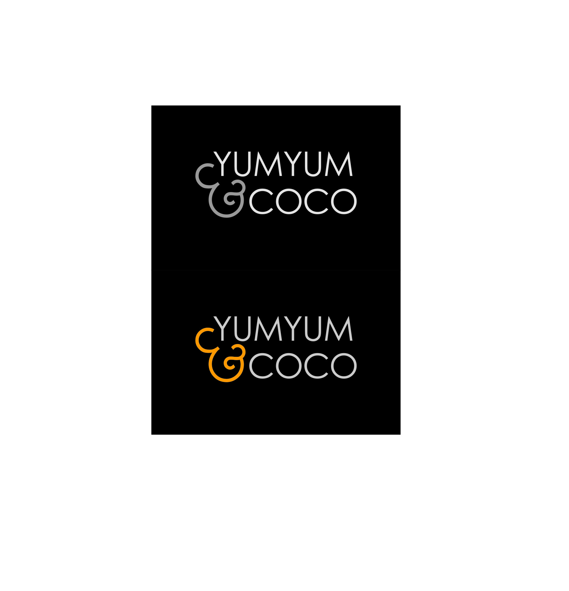 Logo Design by Ngepet_art - Entry No. 127 in the Logo Design Contest Logo Design for YumYum & CoCo.