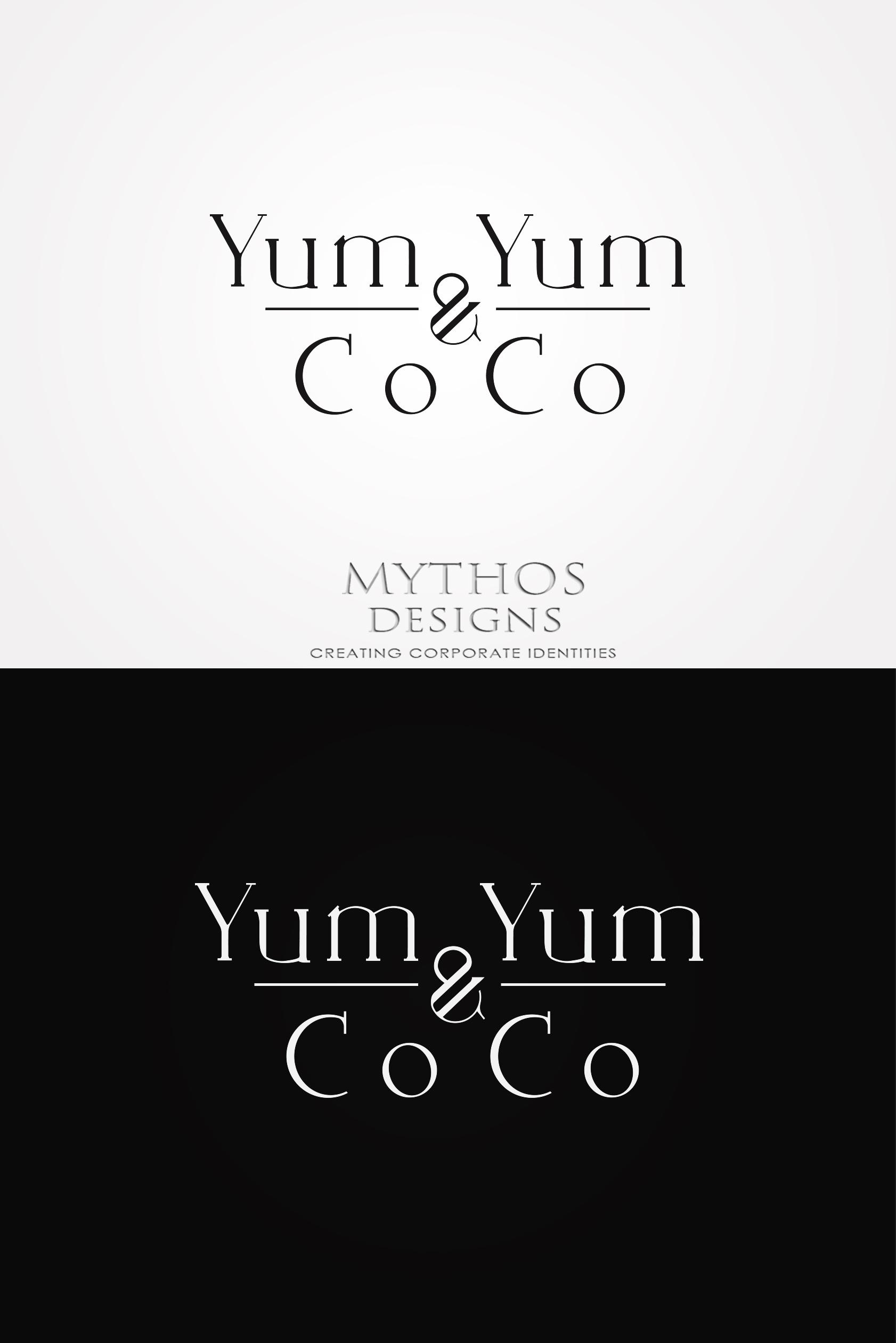 Logo Design by Mythos Designs - Entry No. 131 in the Logo Design Contest Logo Design for YumYum & CoCo.