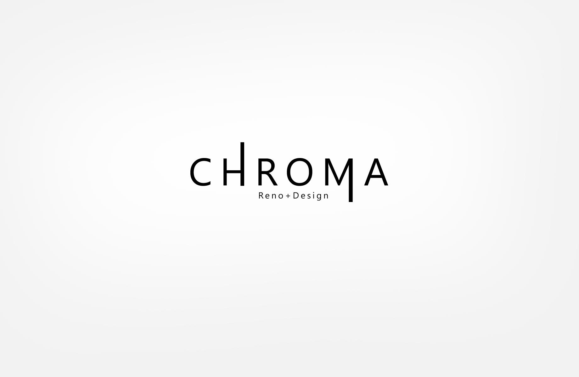 Logo Design by Jan Chua - Entry No. 7 in the Logo Design Contest Inspiring Logo Design for Chroma Reno+Design.