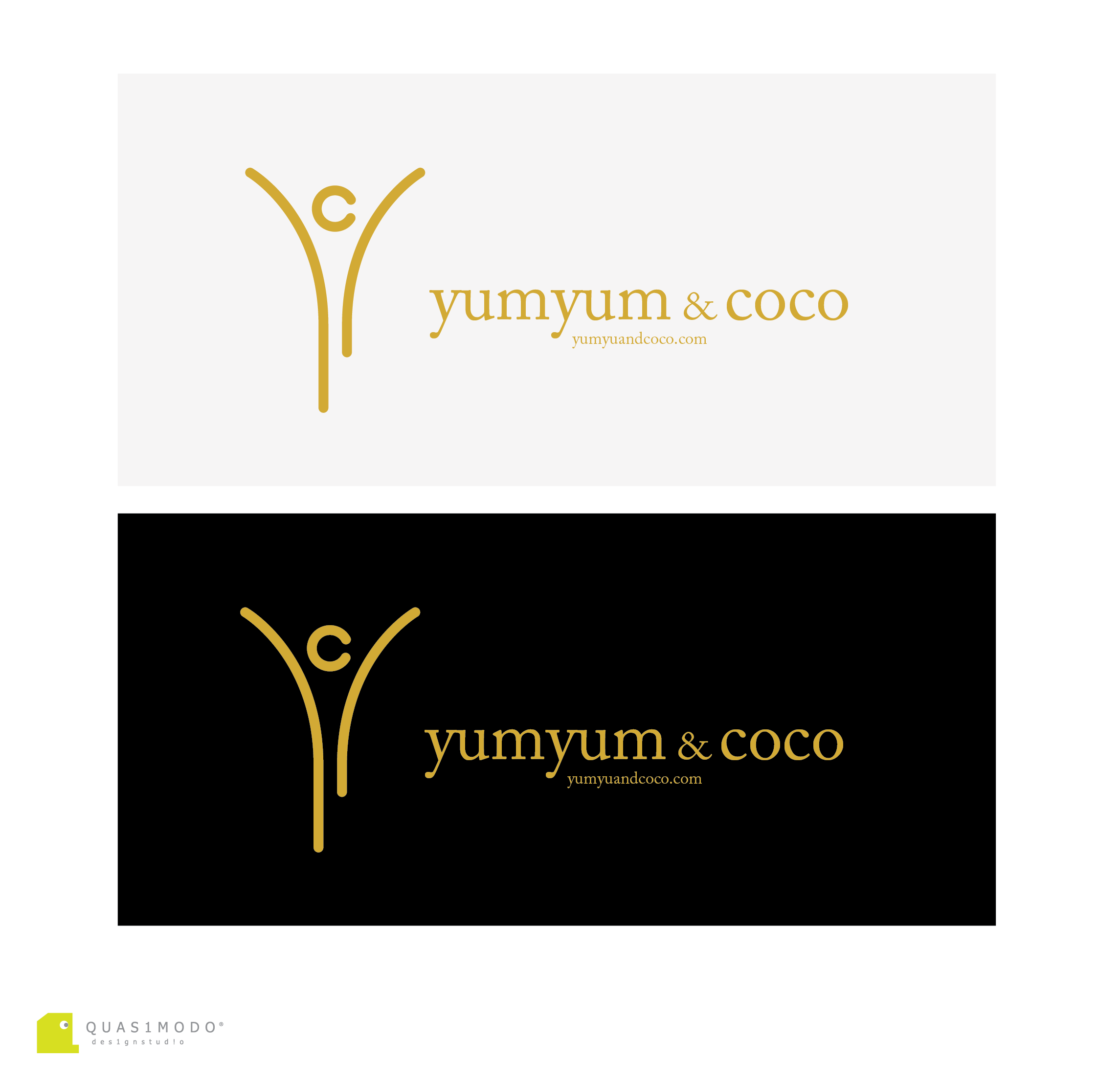 Logo Design by DIMITRIOS PAPADOPOULOS - Entry No. 165 in the Logo Design Contest Logo Design for YumYum & CoCo.