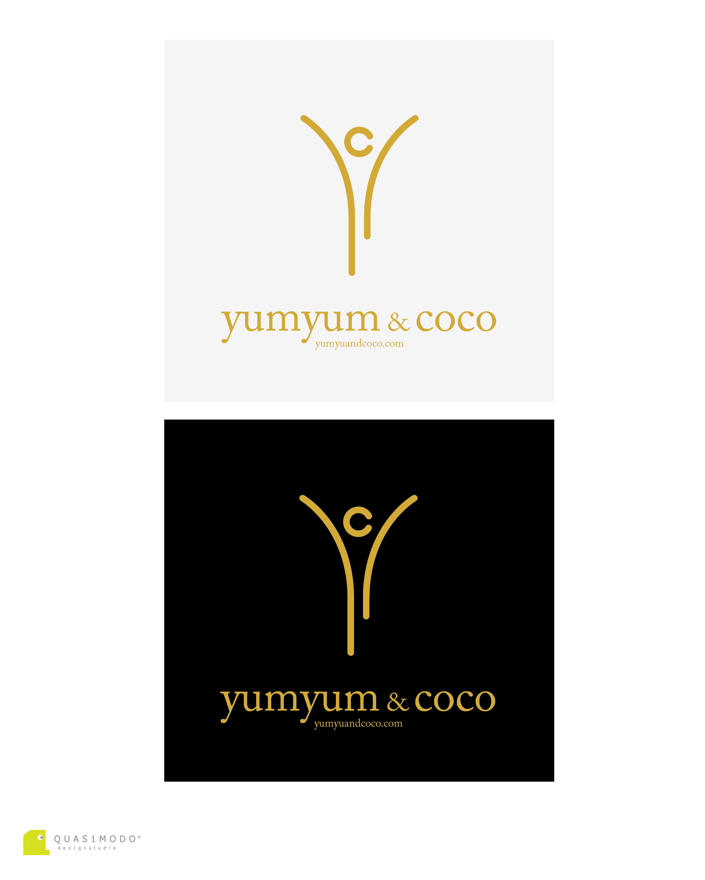 Logo Design by DIMITRIOS PAPADOPOULOS - Entry No. 166 in the Logo Design Contest Logo Design for YumYum & CoCo.
