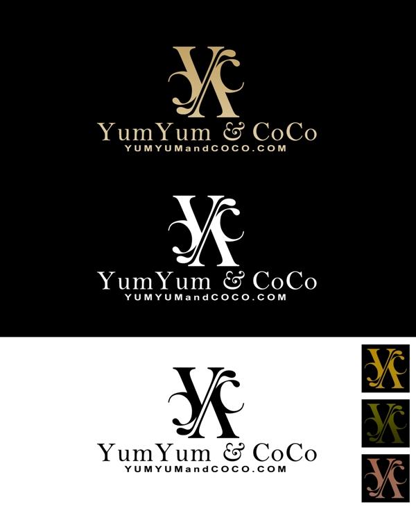 Logo Design by Juan_Kata - Entry No. 169 in the Logo Design Contest Logo Design for YumYum & CoCo.