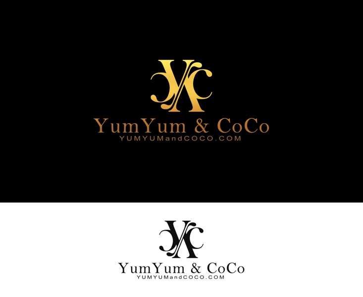 Logo Design by Juan_Kata - Entry No. 172 in the Logo Design Contest Logo Design for YumYum & CoCo.