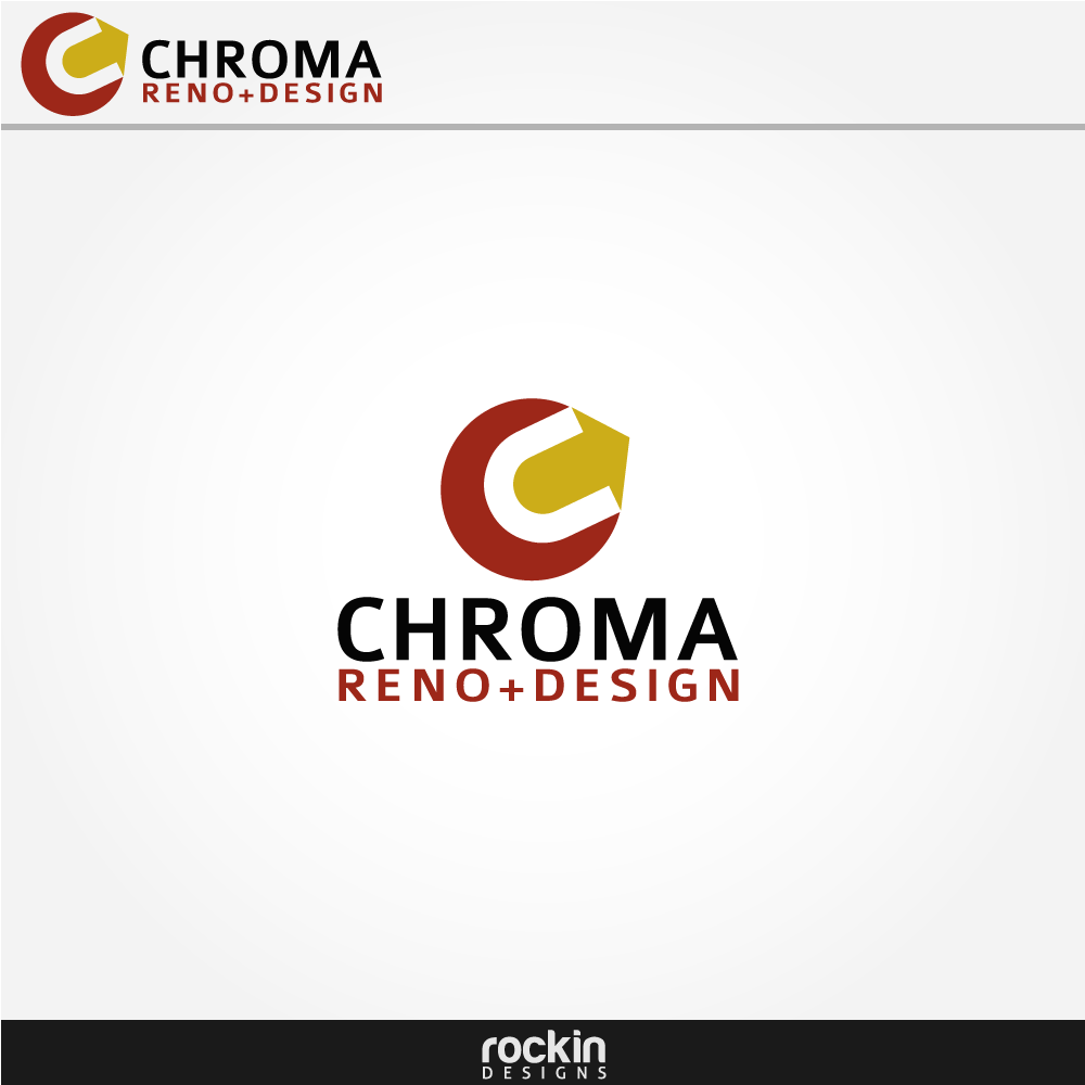 Logo Design by rockin - Entry No. 25 in the Logo Design Contest Inspiring Logo Design for Chroma Reno+Design.