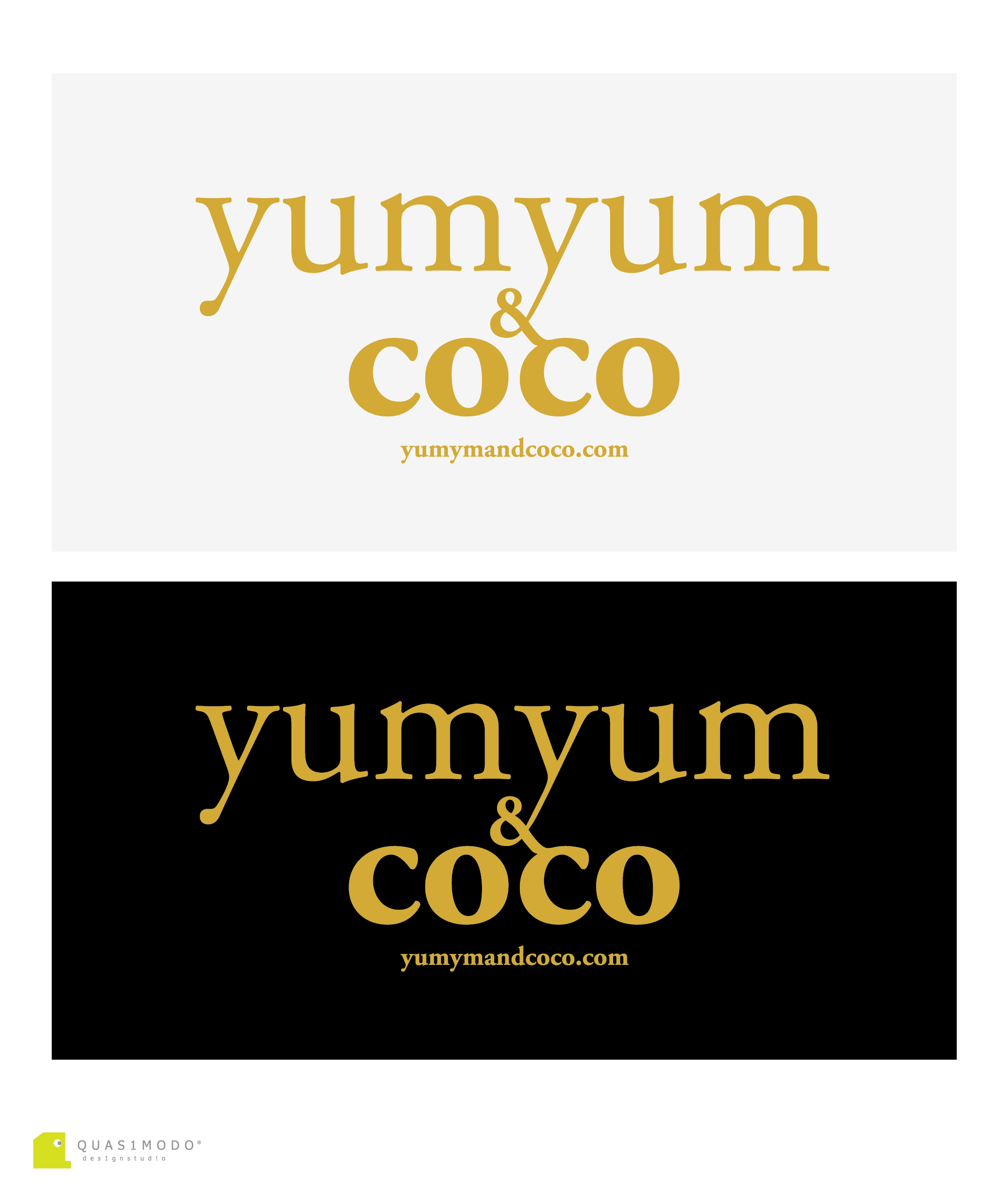 Logo Design by DIMITRIOS PAPADOPOULOS - Entry No. 177 in the Logo Design Contest Logo Design for YumYum & CoCo.