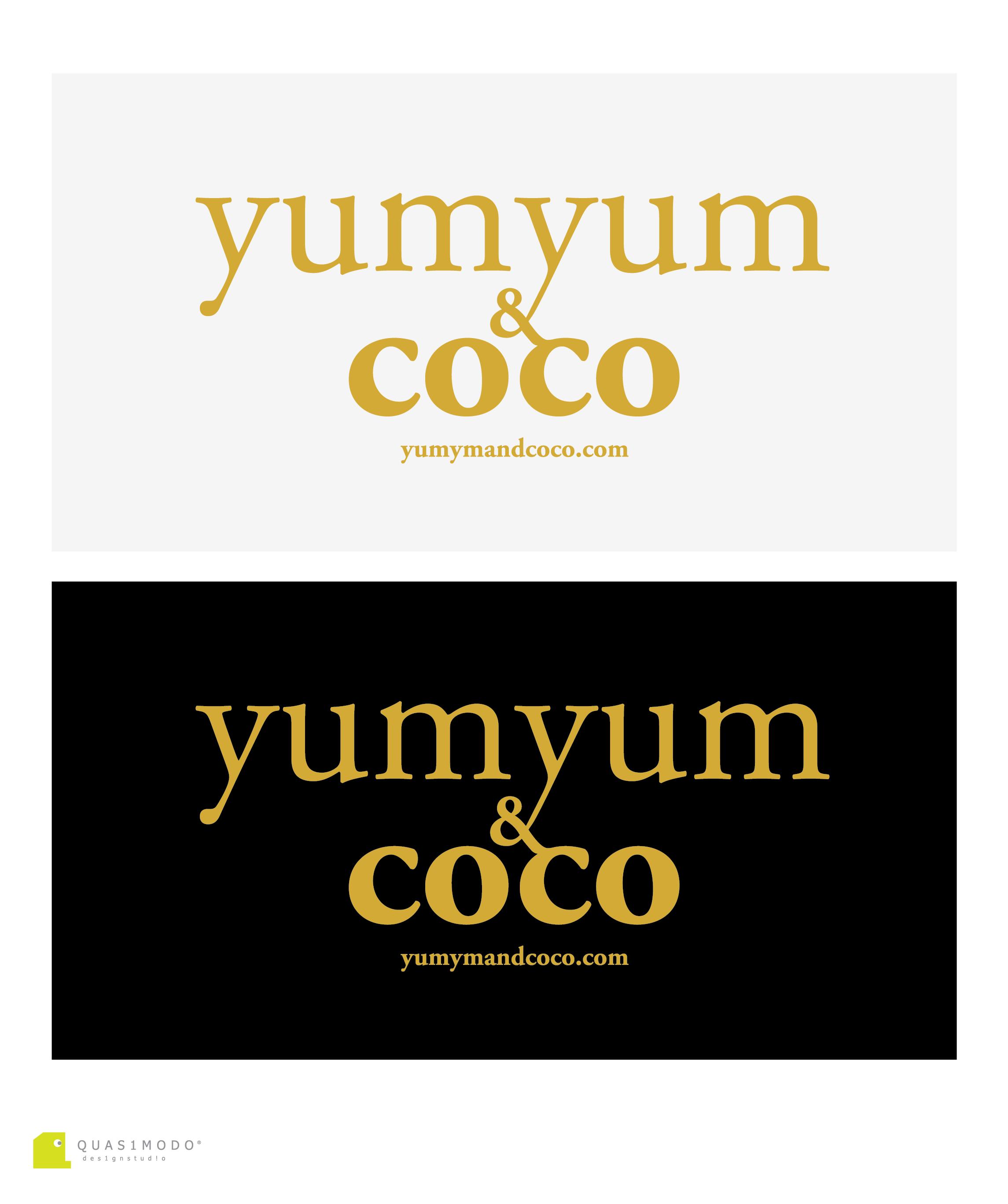 Logo Design by DIMITRIOS PAPADOPOULOS - Entry No. 177 in the Logo Design Contest Logo Design for YumYum & CoCo.