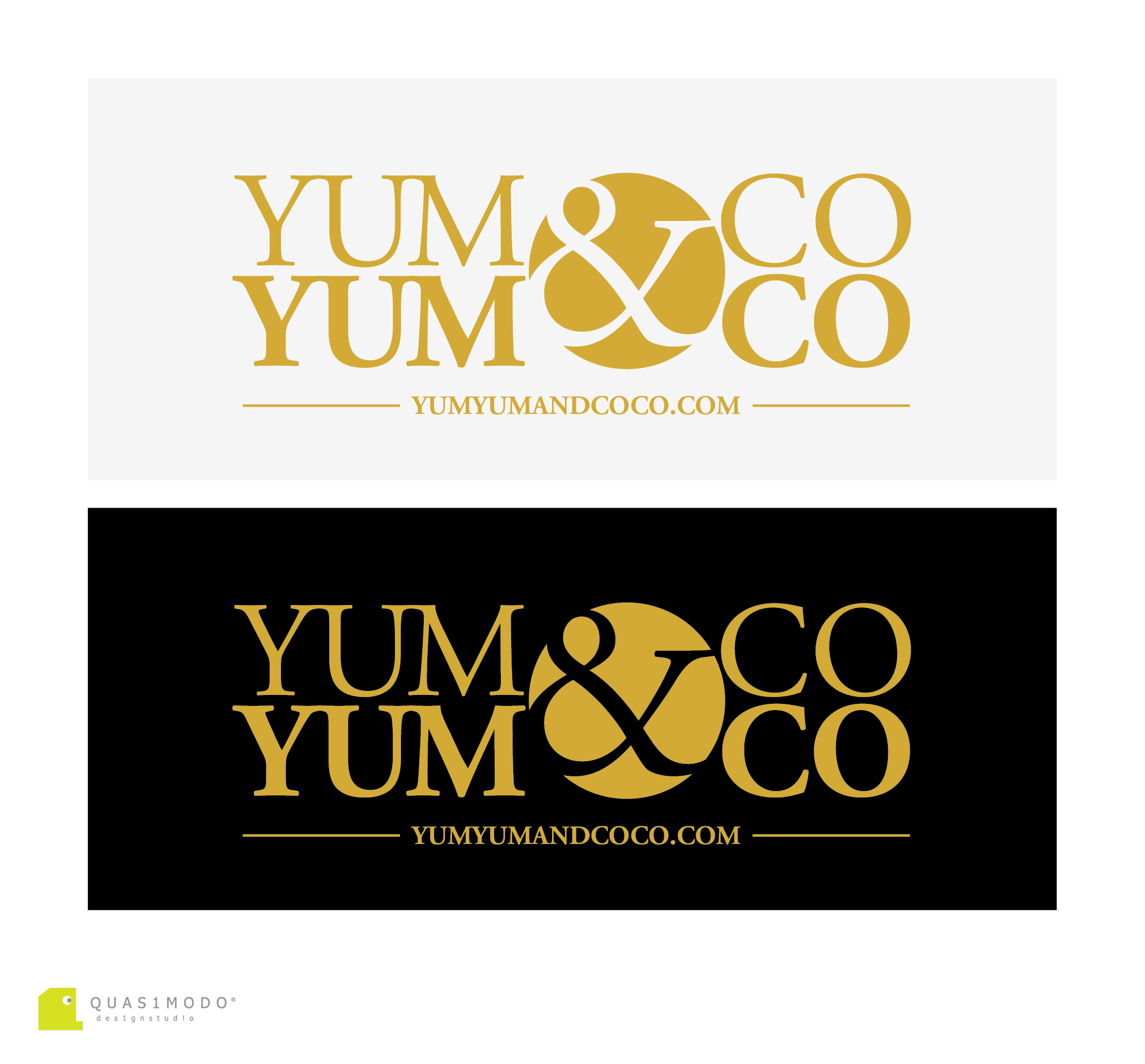 Logo Design by DIMITRIOS PAPADOPOULOS - Entry No. 181 in the Logo Design Contest Logo Design for YumYum & CoCo.