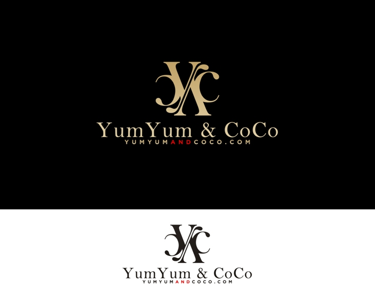 Logo Design by Juan_Kata - Entry No. 189 in the Logo Design Contest Logo Design for YumYum & CoCo.