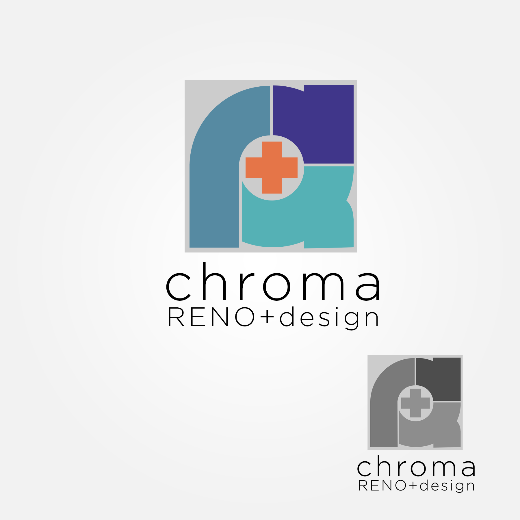 Logo Design by Lemuel Arvin Tanzo - Entry No. 51 in the Logo Design Contest Inspiring Logo Design for Chroma Reno+Design.