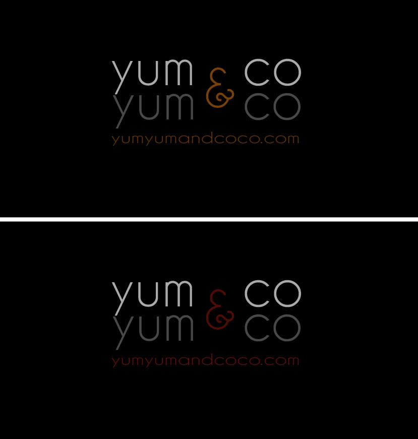 Logo Design by Boba Dizajn - Entry No. 210 in the Logo Design Contest Logo Design for YumYum & CoCo.