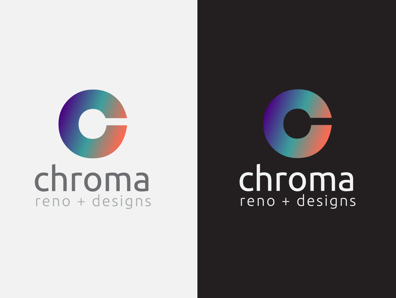 Logo Design by Jerameel Cabautan - Entry No. 53 in the Logo Design Contest Inspiring Logo Design for Chroma Reno+Design.