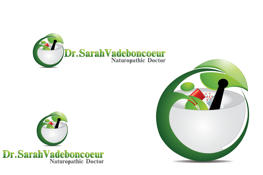 Logo Design by Private User - Entry No. 4 in the Logo Design Contest New Logo Design for Dr. Sarah Vadeboncoeur, Naturopathic Doctor.
