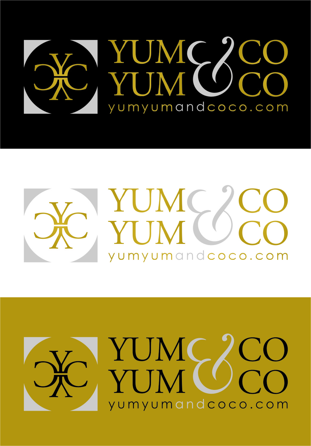 Logo Design by RasYa Muhammad Athaya - Entry No. 228 in the Logo Design Contest Logo Design for YumYum & CoCo.