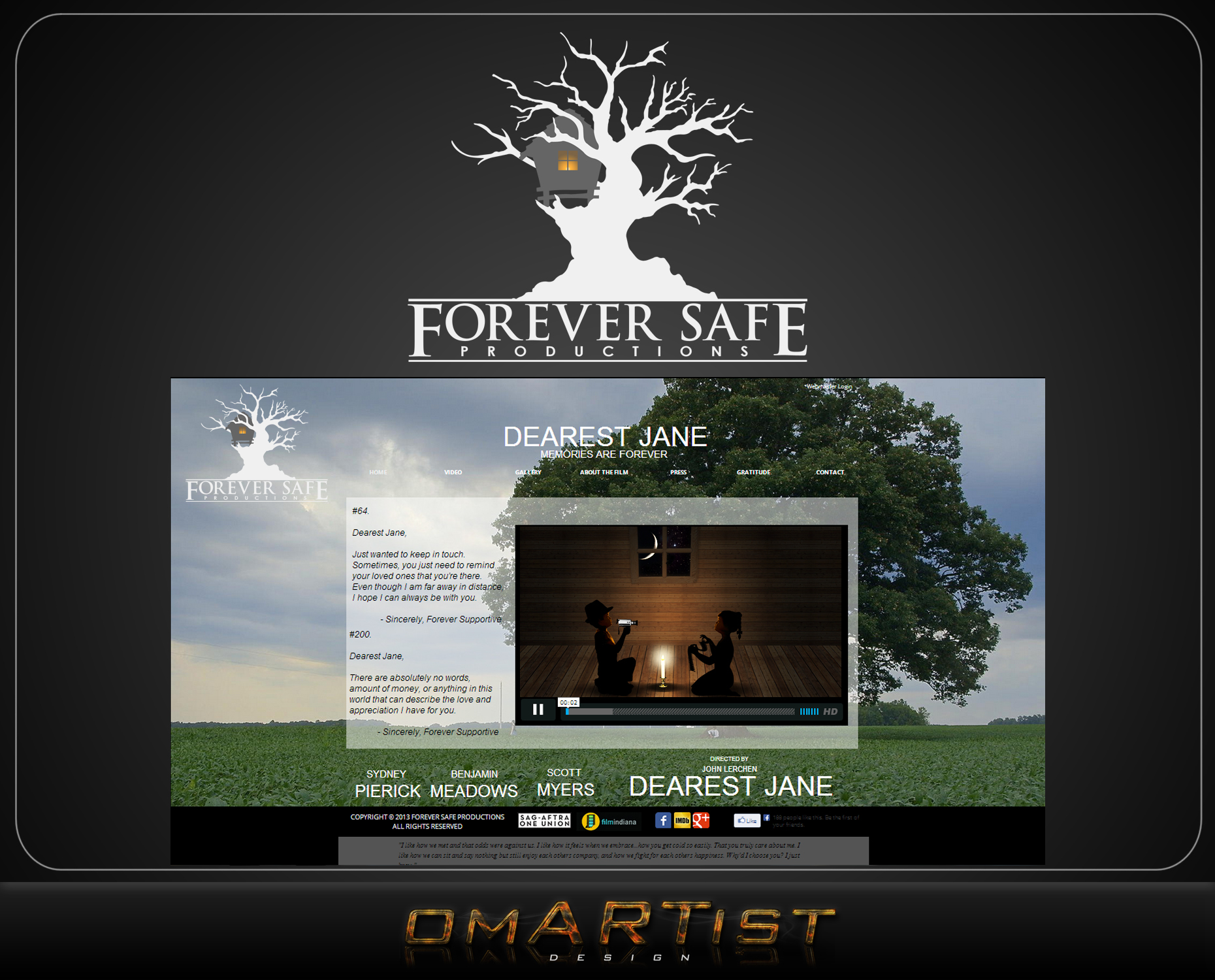 Logo Design by omARTist - Entry No. 63 in the Logo Design Contest Inspiring Logo Design for Forever Safe Productions.
